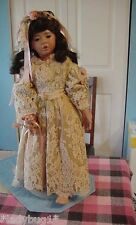 "Vintage~ 26.5"" Whitney Doll by Donna Rubert w/Ooak Designer Antique Lace Dress"
