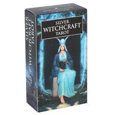 Silver Witchcraft Tarot Deck Cards 78 Divining Occult Oracle Gothic Mitt-Reader
