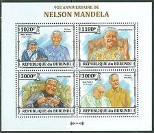 BURUNDI - NELSON MANDELA SHEET OF 4 STAMPS MNH