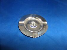 H.M.S.RENOWN STERLING SILVER SOUVENIR ASHTRAY C.1926 ENAMEL BADGE
