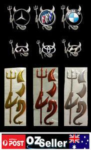 Hot New 3D Devil Style Demon Sticker Car Emblem Logo Paper in 3 colors