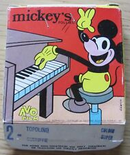 AVO FILM Super 8 MICKEY'S FOLLIES - N.2 TOPOLINO SCERIFFO -COLORI SUPER* RARO