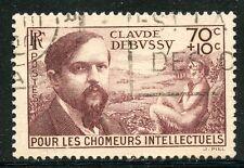 STAMP / TIMBRE FRANCE OBLITERE N° 437 / CELEBRITE / CLAUDE DEBUSSY