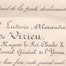 Paul Ludovic Alexandre De Virieu 1880 Charles X Yonne