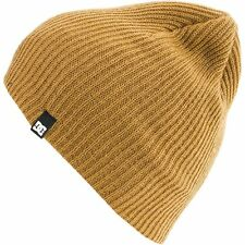 DC Shoes CLAP Mens 100% Acrylic Wear Slouchy or Cuffed Beanie One Size Camel
