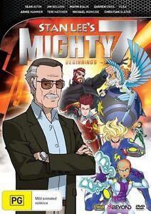 Stan Lee's Mighty 7 - Beginnings (DVD, 2014)--free postage