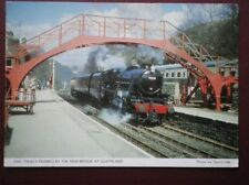POSTCARD LOCO 5428 ' ERIC TEACY' FRAMED BY THE NEW BRIDGE APPROACHING GOATHLAND