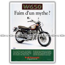 PUB KAWASAKI W 650 W650 - Original Advert / Publicité Moto 1999