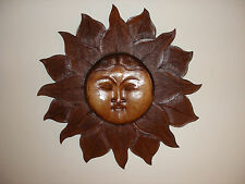 More details for fantastic hand carved plaque with sun  27