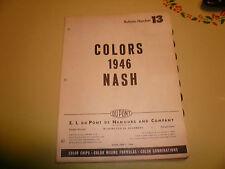 1946 Nash DuPont Dulux Color Chip Paint Sample - Vintage