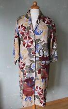 Kenzo hemdblusenkleid kleis blusa larga flores beige multicolor talla s 36 (k26) *