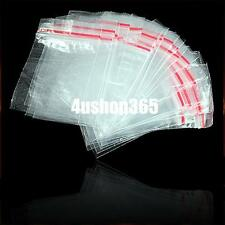 100 Small Clear Plastic Poly Zip Ziplock Resealable Packing Storage Bags 4x6cm