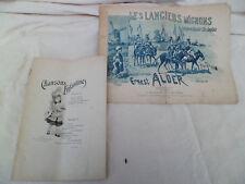 Lot 1 livret de partitions de Musique + 1 partition décorée- 1899 - fin XIXéme