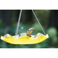 Birds Choice AAH216 Hanging Yellow Acrylic Bird Bath