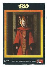 KFC Star Wars Episode I The Phantom Menace Card 4/20 Queen Amidala G- Condition