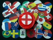 32 PRE-CUT WORLD CUP 2018 ALL FLAGS FOOTBALL CAKE EDIBLE RICE WAFER PAPER TOPPER