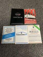 1990 Chevrolet Corvette owners manual with Case