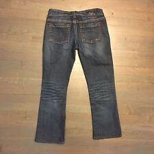 1921 Denim Jeans Women Western Glove Works Bootcut Distressed Sz 28/34 Inseam 27