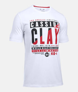NEW Under Armour Mens UA x Muhammad Ali Collection 16th Bout White T-Shirt LARGE
