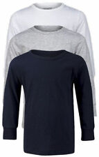 Next 100% Cotton Crew Neck Long Sleeve Boys' T-Shirts & Tops (2-16 Years)