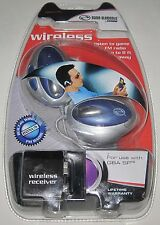 Blue Wireless Headphones (Nintendo Game Boy Advance /SP) with FM Radio..NEW!!