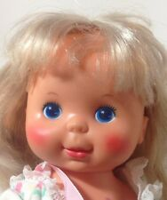 1980 PRETTY CURLS DOLL Curl Baby Ash Blonde Red Cheeks Ideal Toy Co