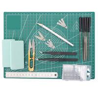 Hobby Craft Knife Blades Cutting Mat Set Gundam Model Making Tools Modeller Kit