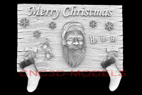 3D Model STL for CNC Router Artcam Aspire Merry Christmas Santa Claus D725