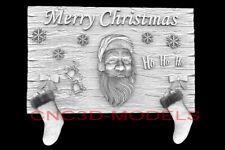 3d Model Stl For Cnc Router Artcam Aspire Merry Christmas Santa Claus D725