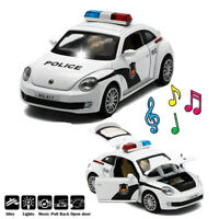 Toys for Kids Metal Police Car Boys Cool Toy Push Back / LED Light / Open Door