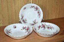 Set of 3 Royal Albert Lavender Rose Soup Cereal Bowls