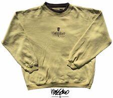 Mossimo Jumper Men's Sweatshirt Oversize Crewneck Medium Washed Yellow & Brown V
