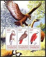 Central African Republic 2011 Birds Eagles Butterflies Sheet of 3 MNH** Privat !