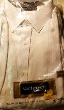Vintage Van Heusen Regular Cut Single Needle Tailor White 15 1/2-33 New In Pkg