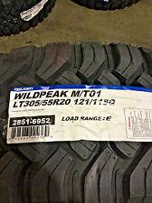 4 New LT 305 55 20 LRE 10 Ply Falken Wildpeak M/T01 Mud Tires