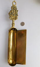 Vintage Art Deco brass crumb tray sailing ship galleon household equipment