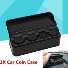 1X Car Coins Storage Box Piggy bank Organizer Change Holder Dash Container Black