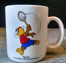 Vintage Los Angeles 1984 Olympic Games Tennis Coffee Mug Sam the Eagle