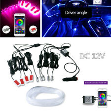 12V RGB 1IN9 LED Car Atmosphere Lamp Door Dash Ambient Light Flash 360 Degree