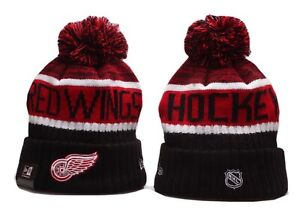 Detroit Red Wings New Era Beanie NHL Hat Adult Size