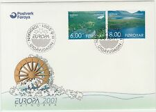 Faroe Islands 2001 Europa, Hydroelectric Power Vestmanna & Eidi First Day Cover