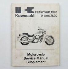 Kawasaki Vulcan1500 VN1500 Classic 1996 Motorcycle Service Manual Supplement