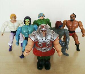 Vintage He Man 80s Figures x6 Mattel Figurine Toys Skeletor He-Man Stratos
