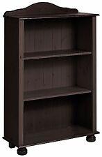 Regal Bücher Bücherregal Kiefer massiv dunkelbraun Wohnregal Wohnzimmer Landhaus