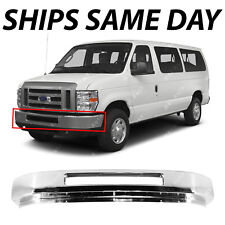 NEW Chrome Steel Front Bumper Face Bar Replacement for 2008-2016 Ford Econoline