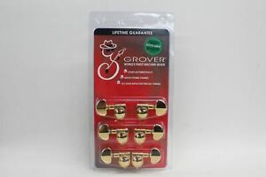 GROVER 502G Rotogrip Locking Rotomatic Guitar Tuners 3X3 Gold Tone Finish NEW