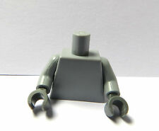 Lego  1 Plain Body Torso For  Girl Boy  Minifigure Grey Grey Hands