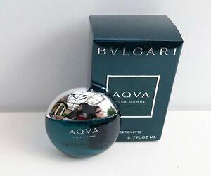 Bvlgari Aqva Pour Homme Eau de Toilette mini for men, 5ml, Brand New in Box