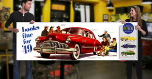 1949 Buick Dealer Garage Banner Roadmaster Passenger Car Coupe Sedan