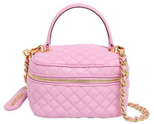 SS15 $1395 MSRP! Moschino Couture X Jeremy Scott LEATHER Pink Make Up Handbag